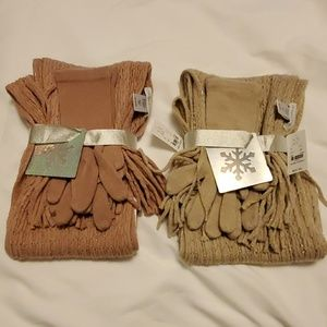 (2) Scarf and gloves set